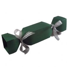Dark Green Cracker Designer Favour Boxes